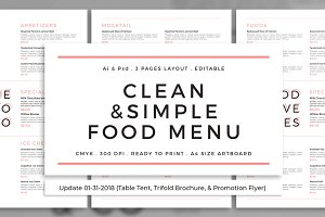 Clean & Simple Food Menu + Update