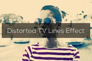 Distorted TV Lines Effect