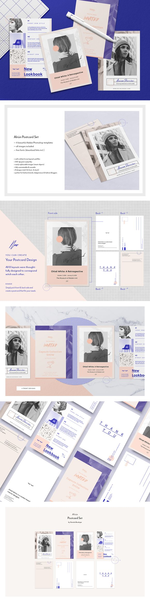 20 Customizable Postcard Templates for Travel-Inspired Designs ...