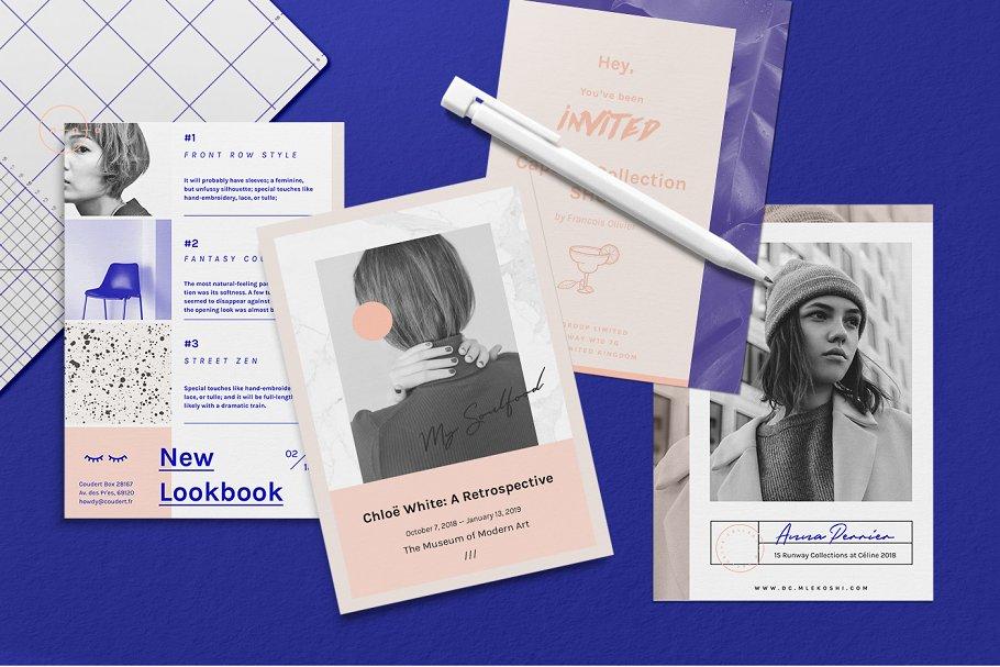 Set Of Postcard Flyers Alrn Flyer Templates Creative Market Pro