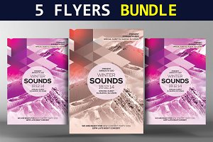 5 Winter Flyers Bundle