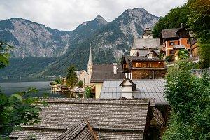 Scenic view of Hallstatt in Austrian Alps