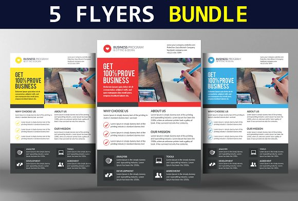 5 Business Conference Flyers Bundle