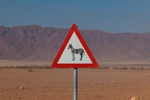 Roadsign zebra crossing in africa