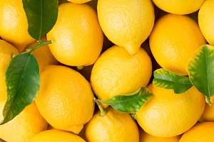 Background of lemon fruits.