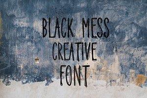 Black Mess - Brutal Creative Font