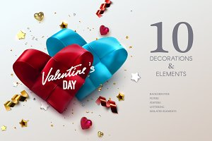 Valentines Day vector decorations
