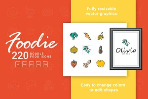 Foodie - Food Hand Drawn Icons