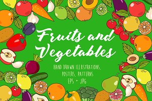 Fruits&Vegetables illustration pack