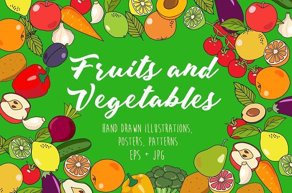Fruits&Vegetables illustration pack