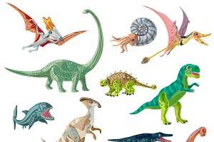 Jurassic Period Animals Set