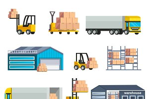 Warehouse Logistics Elements Set