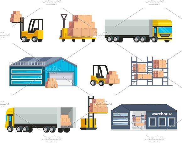 Warehouse Logistics Elements Set