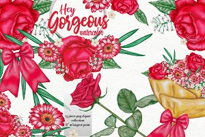 Hey gorgeous watercolor roses
