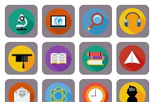 Icon set for online education