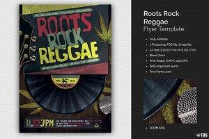 Roots Rock Reggae Flyer Template