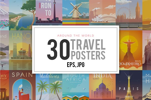 Travel Posters Collection.