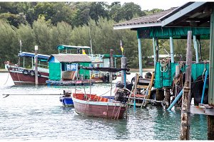 fisherman's Bay, rural flavor in Thailand, the life of a fisherman