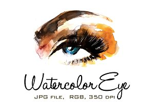 Watercolor Eye 1