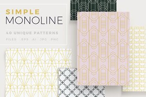 Simple Mono Line Patterns