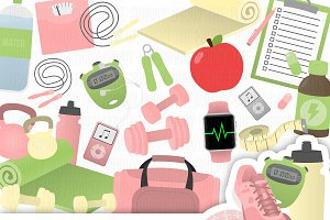 Fitness Clipart Collection