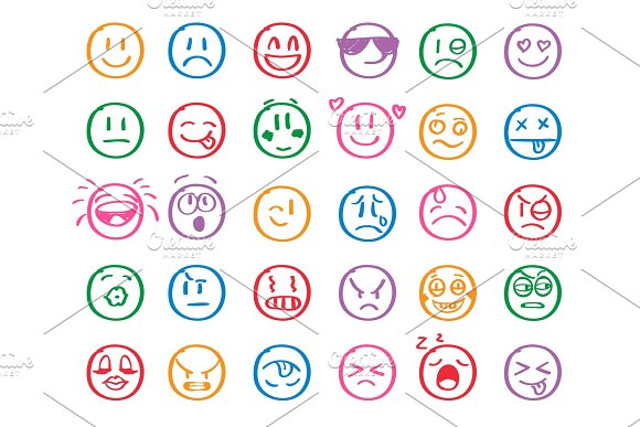 Modern Outline Style Emoji Icons Collection Premium Quality Symbols And Sign Web Logo Collection Pack Modern Infographic Logo And Pictogram Simple Emoticons Pictograms