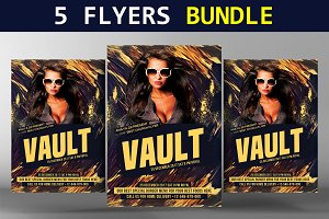 5 Party Flyers Bundle