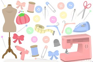 Sewing Clipart Collection
