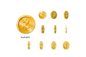 Gold Rotate zcash Frames