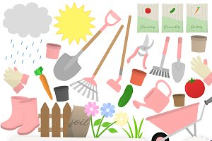 Gardening Clipart Collection