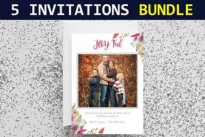 5 Wedding Invitations Bundle