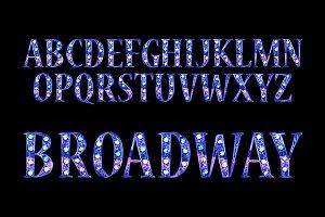 Broadway. Retro alphabet