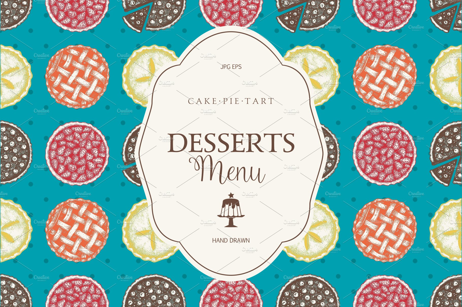 Sweet Bakery Menu Designs ~ Illustrations ~ Creative Market