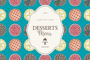 Sweet Bakery Menu Designs