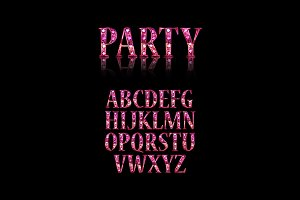 Party time. Retro alphabet