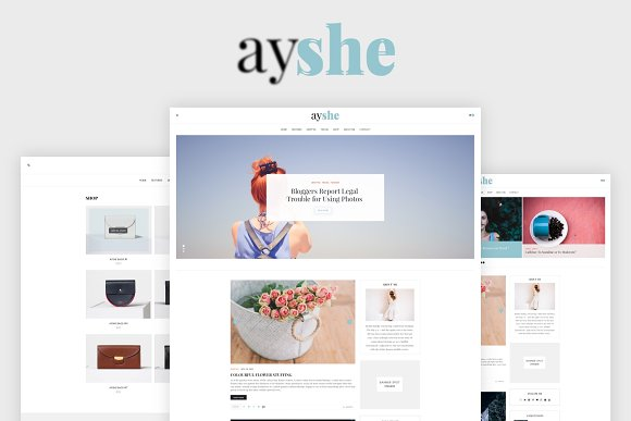 AYSHE Blog And Shop PSD Template