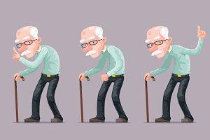 Bent Old Man Cane Wise Moral