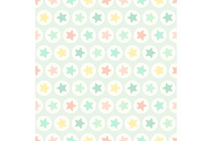 Cute geometric seamless pattern with stars