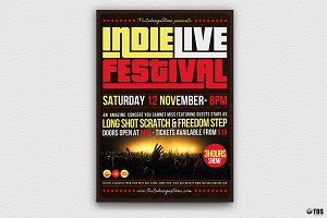 Indie Live Festival Flyer Template