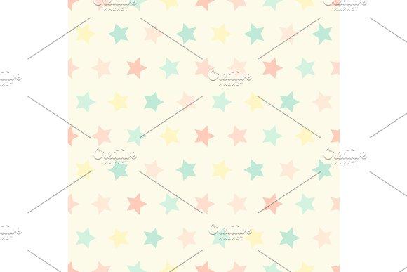Cute Geometric Seamless Pattern With Stars