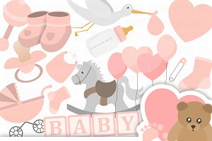 Baby Shower Clipart Collection