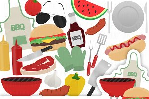 Barbecue Clipart Set