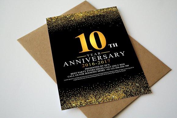 5 Invitation Cards Bundle
