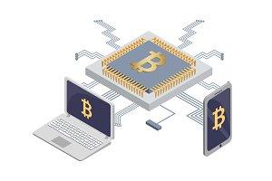 Platform for Mining Bitcoins, Blockchain for Money
