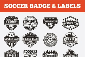 SOCCER BADGE & LABELS VOL1