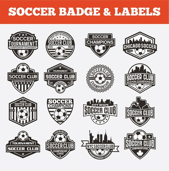 SOCCER BADGE LABELS VOL1