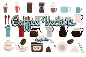 Coffee and Tea Vector Clipart