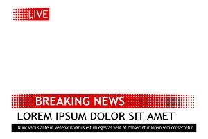 Breaking news template pop art vector