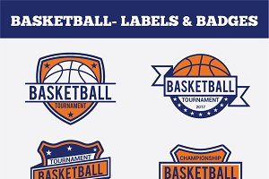 Basketball Badges & Stickers Vol2