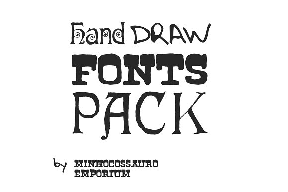 Hand Drawn Fonts Pack